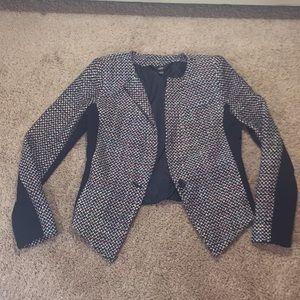 Multi-colored patterned blazer